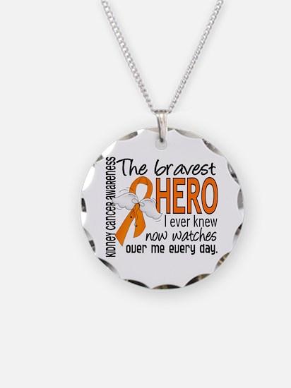 Bravest Hero I Knew Kidney Cancer Necklace