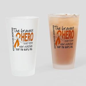 Bravest Hero I Knew Kidney Cancer Drinking Glass