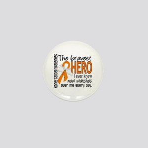 Bravest Hero I Knew Kidney Cancer Mini Button