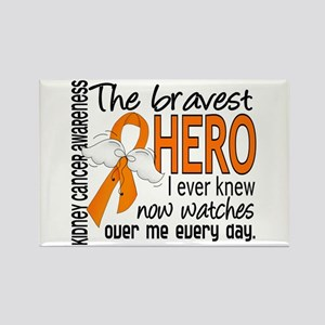 Bravest Hero I Knew Kidney Cancer Rectangle Magnet