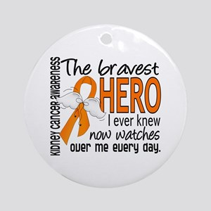 Bravest Hero I Knew Kidney Cancer Ornament (Round)