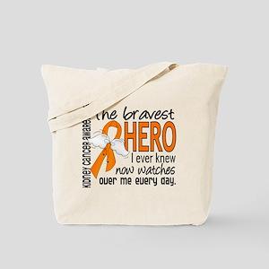 Bravest Hero I Knew Kidney Cancer Tote Bag