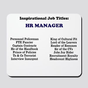 Human Resources HR Manager Mousepad