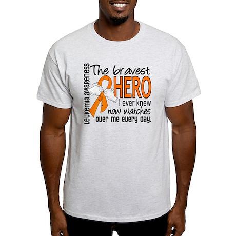 Bravest Hero I Knew Leukemia Light T-Shirt