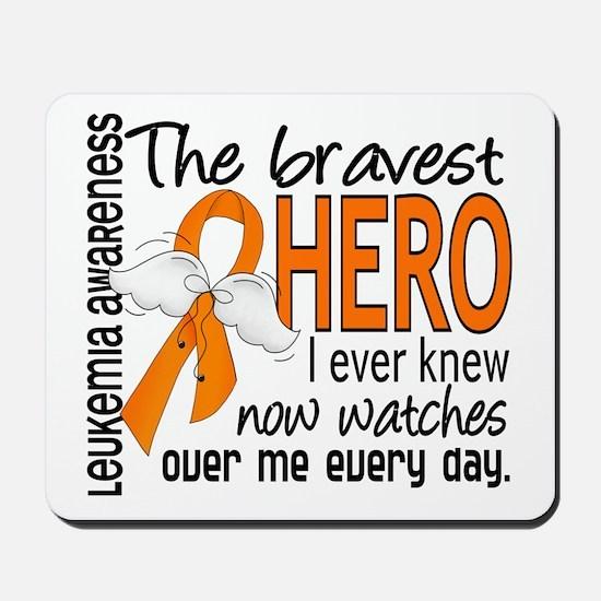 Bravest Hero I Knew Leukemia Mousepad