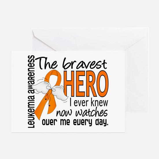 Bravest Hero I Knew Leukemia Greeting Card