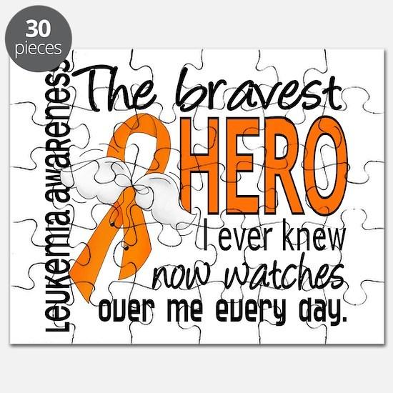 Bravest Hero I Knew Leukemia Puzzle
