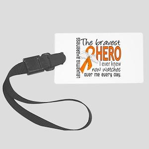 Bravest Hero I Knew Leukemia Large Luggage Tag