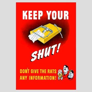 Digitally restored vector war propaganda poster. K