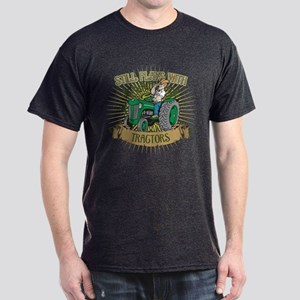Still Plays with Green Tractors Dark T-Shirt