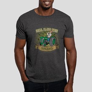 Still Plays with Green Tractors Dark T-Shirt