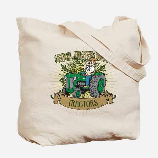 Still Plays with Green Tractors Tote Bag