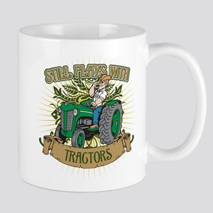 Still Plays with Green Tractors Mug