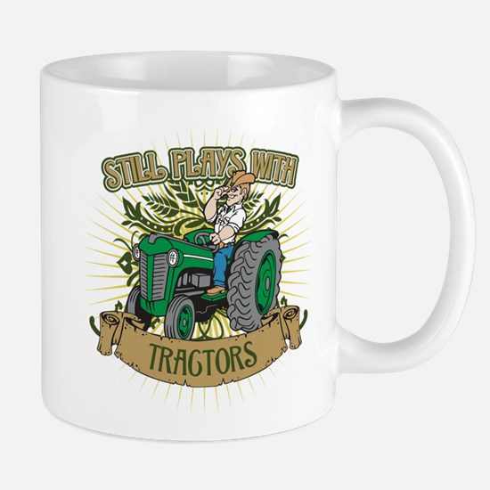 Still Plays with Green Tractors Mug