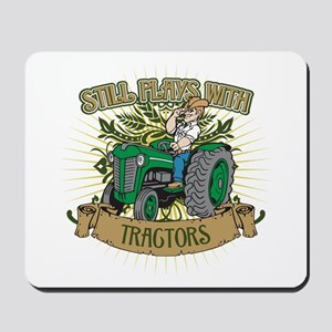 Still Plays with Green Tractors Mousepad