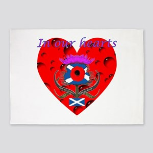 In our hearts military heros 5'x7'Area Rug
