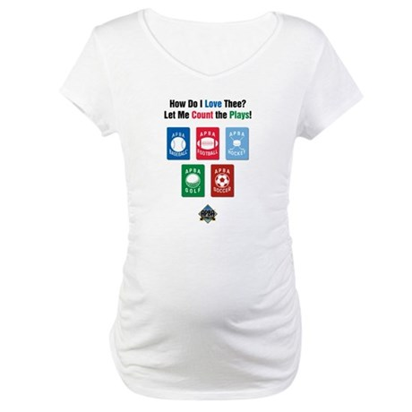 Count the Plays Maternity T-Shirt