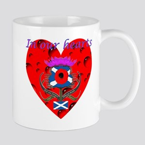 In our hearts military heros Mug