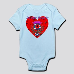 In our hearts military heros Infant Bodysuit