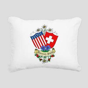 American Swiss Crest Rectangular Canvas Pillow