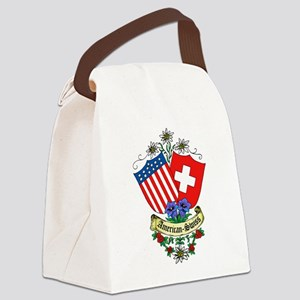 American Swiss Crest Canvas Lunch Bag