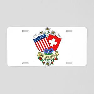 American Swiss Crest Aluminum License Plate