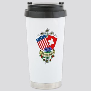 American Swiss Crest Stainless Steel Travel Mug