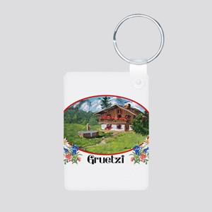 swiss gruetze Aluminum Photo Keychain