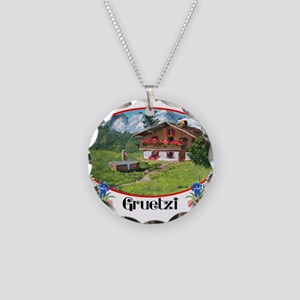 swiss gruetze Necklace Circle Charm