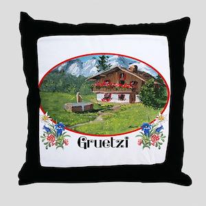 swiss gruetze Throw Pillow