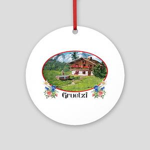 swiss gruetze Ornament (Round)