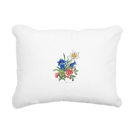 alpine-flowers3.jpg Rectangular Canvas Pillow