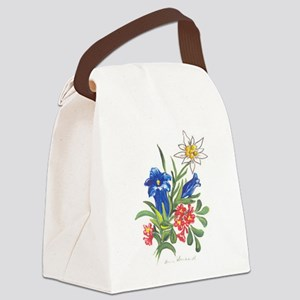 alpine-flowers3 Canvas Lunch Bag