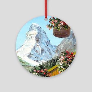 matterhorn Ornament (Round)