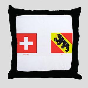 Swiss Cantons Throw Pillow