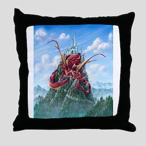 Sleeping Dragon Throw Pillow
