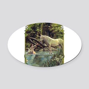 Unicorn Oval Car Magnet