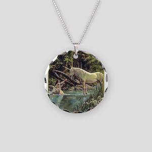 Unicorn Necklace Circle Charm