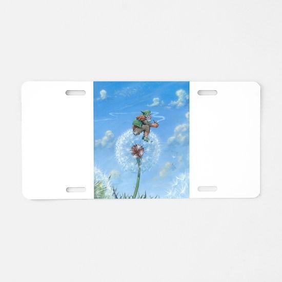 Dandelion Gnome Aluminum License Plate