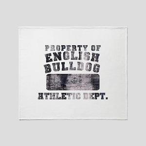 Property of English Bulldog Throw Blanket