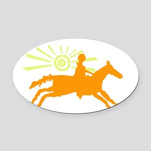 sunhorse Oval Car Magnet