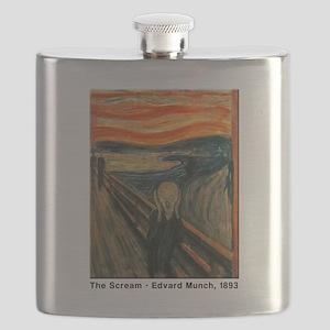 The Scream, Edvard Munch, Flask