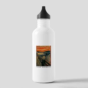 The Scream, Edvard Munch, Stainless Water Bottle 1