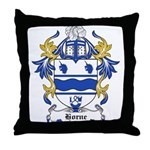 Horne Coat of Arms Throw Pillow