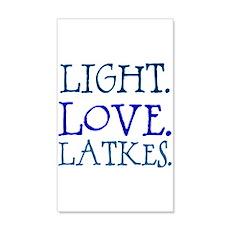 Light. Love. Latkes. Wall Decal