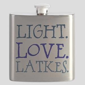 Light. Love. Latkes. Flask