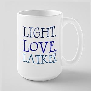 Light. Love. Latkes. Large Mug