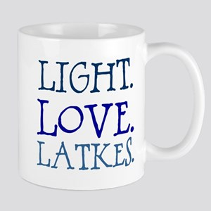 Light. Love. Latkes. Mug