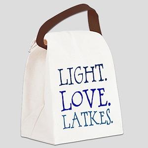 Light. Love. Latkes. Canvas Lunch Bag