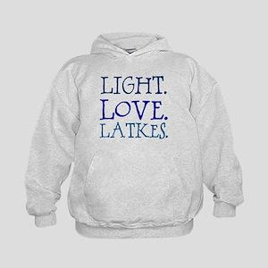 Light. Love. Latkes. Kids Hoodie